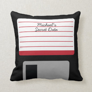 Personalized Floppy Disk Throw Pillow