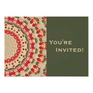 Personalized Floral Abstract 40th Birthday Party Custom Invite