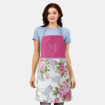 Personalized Floral Apron