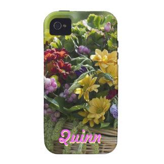 Personalized Floral Arrangement iPhone 4 Case