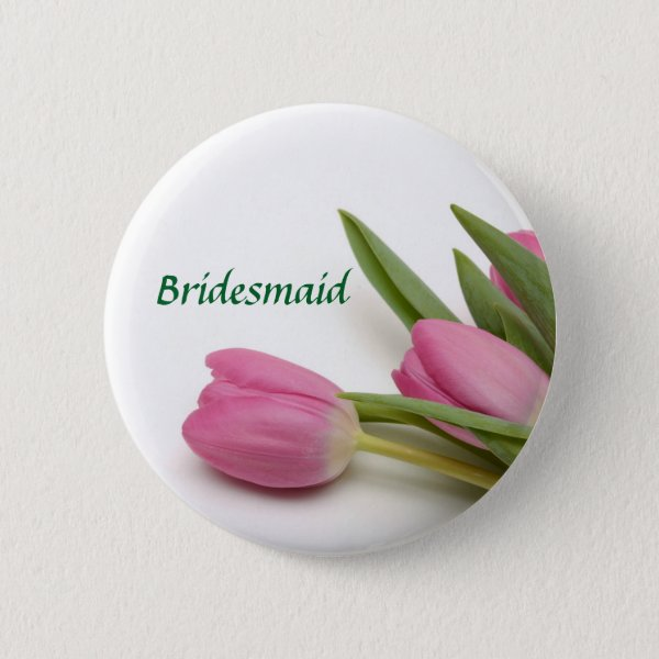 Personalized Floral Bridesmaid/Bridal Party Button