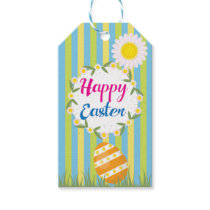 Personalized Floral Bunny Easter Gift Tags