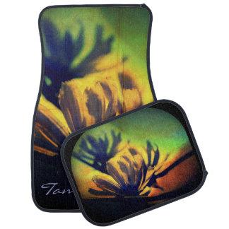 *Personalized* floral de las alfombrillas de auto  Alfombrilla De Auto