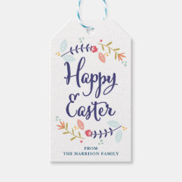 Vintage easter gift tags zazzle personalized floral easter gift tags negle Choice Image