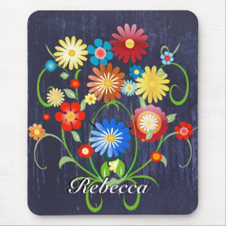 Personalized Floral explosion of color reprise Mouse Pad