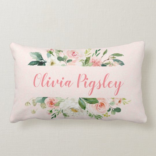 Personalized Fl Nursery Pillow