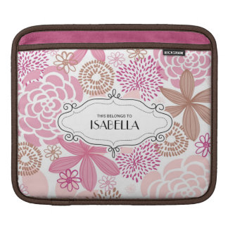 Personalized Floral Rickshaw Sleeve for iPads