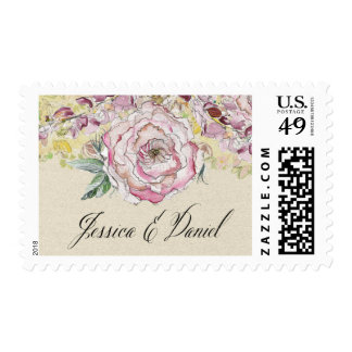 Personalized Floral Stamp