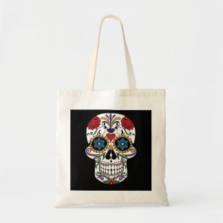 Personalized Floral Sugar Skull Tote Bag