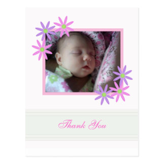 Personalized Floral Thank You Postcard