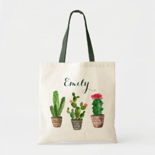 Personalized Fl Tote Bag Cactus