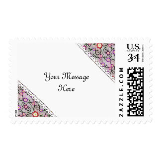 Personalized Floral White Lace Stamp