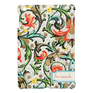 Personalized Floral Yellow Aqua Damask iPad Mini iPad Mini Cover