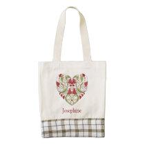 Personalized Flourish Heart Bag
