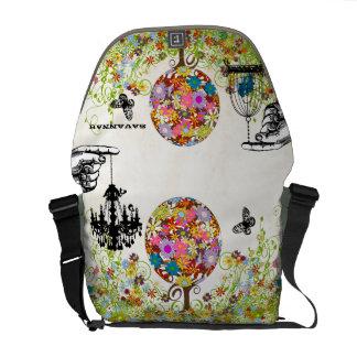 Personalized Flower Butterfly Birdcage Chandelier Messenger Bag