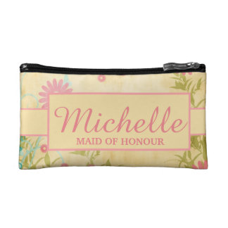 Personalized flower cosmetic bag