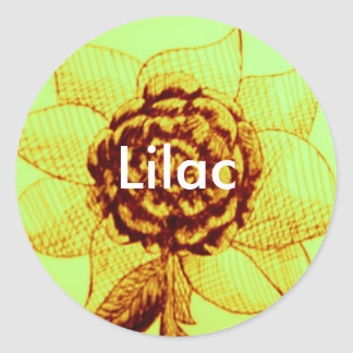 Personalized Flower for Lilac Stickers