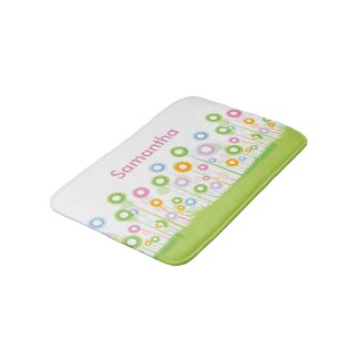 Personalized Flower Garden Bath Mats