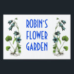 "Personalized Flower Garden Sign<br><div class=""desc"">This weather-resistant yard sign displays the name of any person whose flowers are on display. 