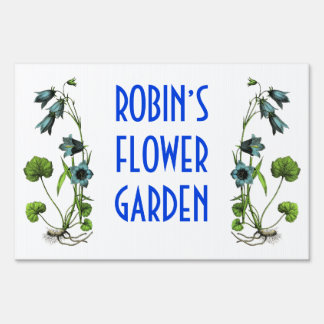 Personalized Flower Garden Sign