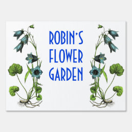 Personalized Flower Garden Sign