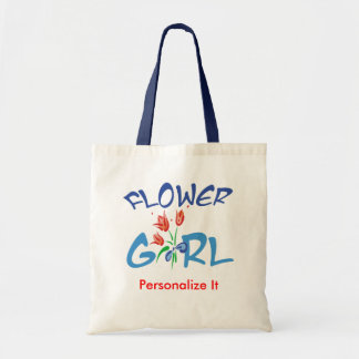 Personalized Flower Girl Favors Tote Bag