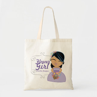 personalized FLOWER GIRL wedding gift * ethnic Canvas Bags