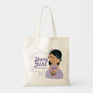 personalized FLOWER GIRL wedding keepsake gift 11 Canvas Bags