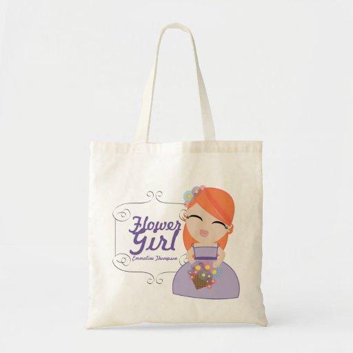 personalized FLOWER GIRL wedding keepsake gift 14 Tote Bag