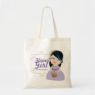 personalized FLOWER GIRL wedding keepsake gift 15 Canvas Bags