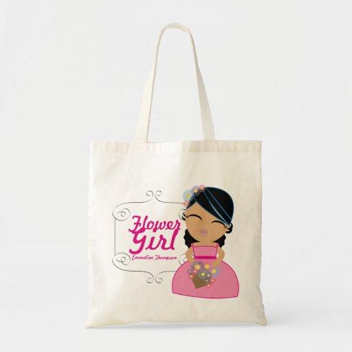 personalized FLOWER GIRL wedding keepsake gift 1 Bags