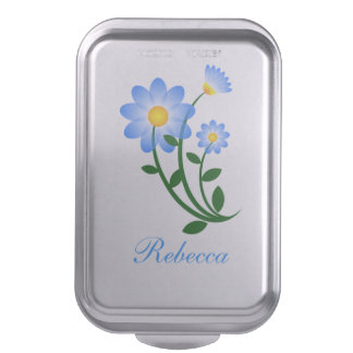 Personalized Flower Graphic Cake Pan