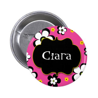 Personalized Flower Power Brights Award Name Pin