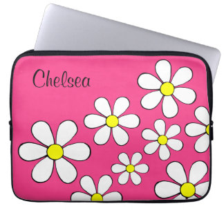 Personalized Flower Power Laptop Sleeve