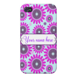 Personalized Flower Power Phone Case Case For iPhone 4