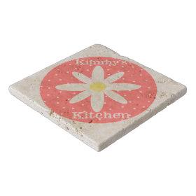 Personalized Flower Stone Trivet Trivets