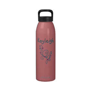 Personalized flower water bottle