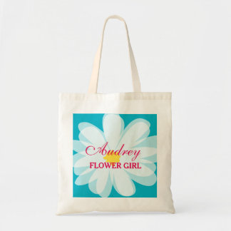 Personalized flowergirl wedding tote bag for girls