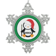 Personalized Flute Christmas Penguin Ornaments