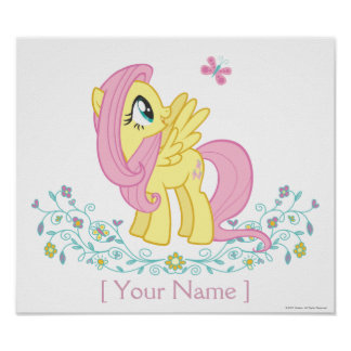 Personalized Fluttershy Poster