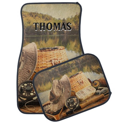 Fly Fishing Rod and Reel Supplies Car Floor Mat