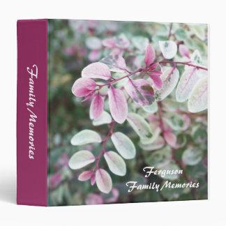 Personalized Foliage Family Memories Photo Album 3 Ring Binder