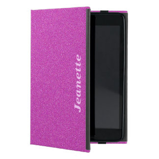 Personalized Folio Case, Hot Pink Solid Cover For iPad Mini