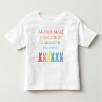 Personalized Food Allergy Alert Easter Bunny Toddler T-shirt