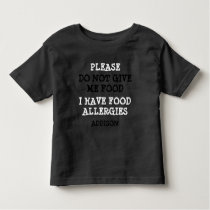 Personalized Food Allergy Alert Shirt