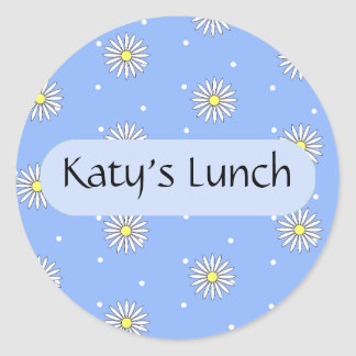 Personalized Food Label for Special Diets Classic Round Sticker