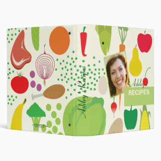 Personalized Food Recipes Binder with Photo