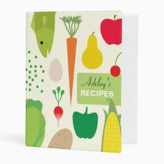 Personalized Food Recipes Mini Binder