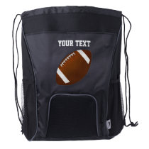 Personalized Football Backpack with YOUR TEXT