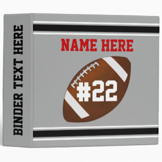 Personalized Football Binders, Football Memories 3 Ring Binder